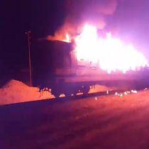 آتش سوزی مهیب قطار مسافربری تهران – اهواز + تصاویر و فیلم