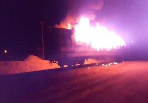 آتش سوزی مهیب قطار مسافربری تهران - اهواز + تصاویر و فیلم