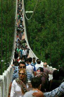 سقوط زن 26 ساله از پل معلق مشگینشهر اردبیل